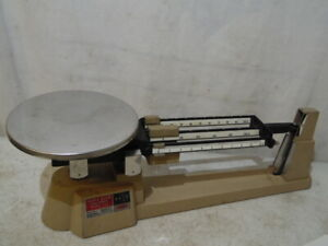 Vintage Ohaus Triple Beam Balance Scale Model 700 2610 Gram Capacity Usa Made