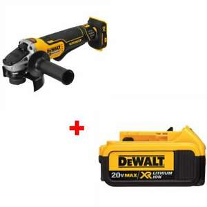Dewalt Dcg413b 4 5 20v Max Xr Small Angle Grinder With Free 4 0 Battery