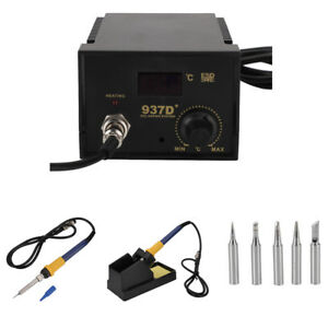 Electric 937d Digital Display Soldering Iron Station Lead Welding Tool Kit