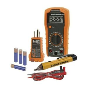 Klein Tools Electrical Tester Set Automatic Orange Lcd