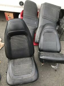 1970 Dodge Charger Challenger Bucket Seats Front And Back Original Black Leather