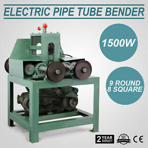 Electric Pipe Tube Bender 9 Round And 8 Square 638lb 290kg Roller Round 1400rpm