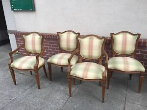 Carved Neoclassical Dining Chairs Set Of 4