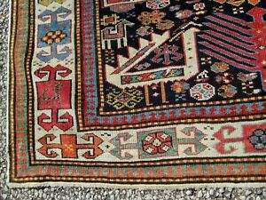 Extremely Fine Early Antique Shirvan Akstafa Caucasian Long Rug Estate Find