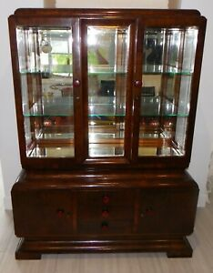 French Art Deco Cabinet Display Bar Cabinet C 1930