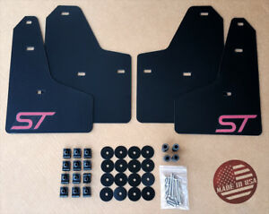 Sr 11 18 Ford Focus St Se S Mud Guard Flaps Set Black W Logo Hardware Kit