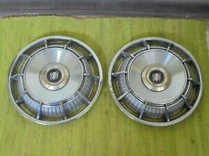 1962 Buick Deluxe Spinner Hub Caps 15 Set Of 2 Wheel Covers 62 Hubcaps