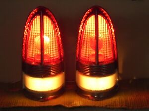 55 56 Packard Tail Lights Pair Converted To Decorative Accent Lamps 1955 1956
