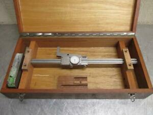 Fowler Helios Germany 001 Dial Precision Height Gauge Machinist Gage 12 W box