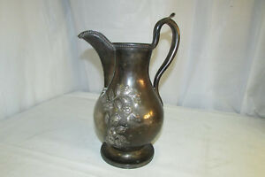 Beautiful Antique Jones Ball Poor Boston 11 Silver Pitcher Dated 1850