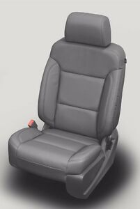 2014 2018 Sierra Crew Cab Sle Katzkin Dark Ash Leather Seat Cover Replacements