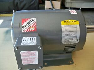 5hp 3 Phase Baldor Motor 1750 Rpms 230 460 Volts 184t Fame Very Very Low Hours