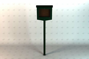 Frog Furnishings Recycled Plastic Hinged Message Center One Side No Post