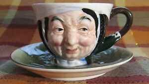 Vintage Occupied Japan Toby Face Teacup And Saucer 1947 1952