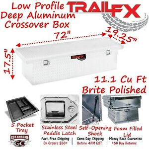 121721 Trailfx 72 Aluminum Crossover Truck Tool Box Low Profile Extra Deep