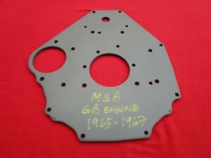 Reconditioned And Primed Oem Rear Gb Engine Plate For 1965 1967 Mgb And Mgb gt