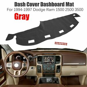 Gray Dash Cover Dashboard Pad Mat Carpet For 1994 1997 Dodge Ram 1500 2500 3500