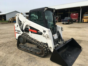 2016 Bobcat T650 Rubber Track Skid Steer Loader 2 Speed Roller Suspension 694 Hr