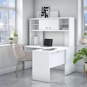 Office By Kathy Ireland Echo L Shaped Desk With Hutch