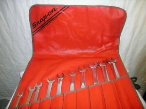 Snap on Long Handle Sae Combination Wrench Set 0189