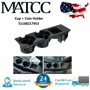 For Bmw 3 Series E46 Center Console Drink Cup Holder Storing Box Carbon Fiber Us