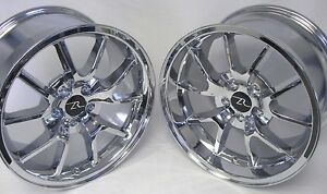 18 Chrome Mustang Fr500 Replica Wheels Staggered 18x9 18x10 5x114 3 Rims 05 14