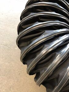 12 X 12 Black Industrial Air Hose Duct For Use On Air Movers Axial Blowers