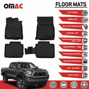 Floor Mats Liner 3d Molded Fits For Toyota Tacoma Access Cab 2016 2020 W Auto