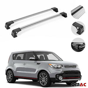 Roof Racks Cross Bars Luggage Carrier Silver 2 Pcs For Kia Soul Ii 2014 2019