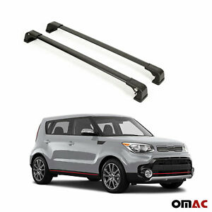 Roof Rack Cross Bars Luggage Carrier Black 2 Pcs For Kia Soul 2014 2019