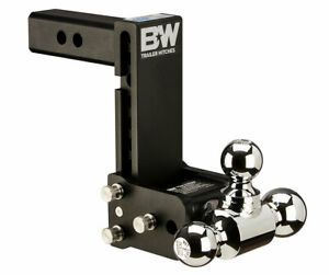 B W Ts10049b Tow Stow 2 Inch Shank Tri Ball Hitch Ball Mount 7 Inch Drop