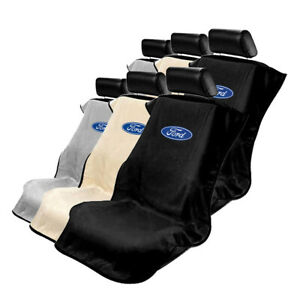 Seat Armour Set Of 2 Terry Cloth Seat Cover Towels Fit For Ford Ford Logo