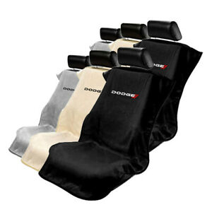 Seat Armour Set Of 2 Terry Cloth Seat Cover Towels Fit For Dodge Dodge Logo