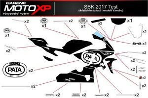 Stickers Decal Moto Compatible Yamaha R1 2015 2019 Ts17