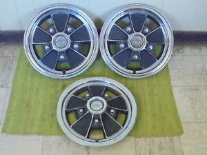 69 70 71 72 Chevrolet Mag Hub Caps 15 Set Of 3 Wheel Covers 1969 1970 1971 1972