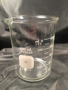 Corning Pyrex 1000 Griffin Low Form Glass Beaker 600ml Single