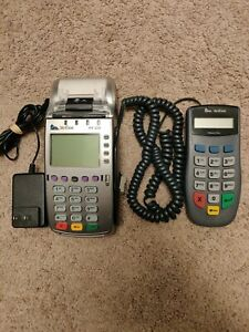 Used Verifone Vx520 Credit Card Chip Reader With Pinpad 1000se