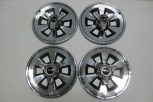 1965 Original Corvette Spinner Hubcaps Wheel Covers Hub Caps Trim Molding 65