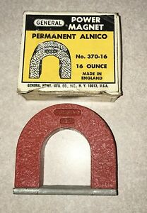 New General Alnico Power Horseshoe Magnet 16 Oz No 370 16