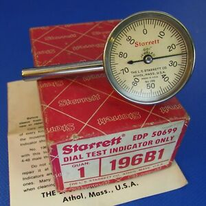 Starrett 196b1 Dial Test Indicator In Original Box Machinist