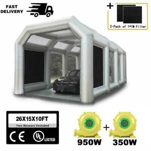26x13x10ft Inflatable Spray Booth Paint Tent Auto Car Workstation Garage Depot