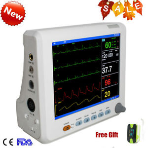 Portable Icu Ccu 6 parameter Medical Patient Monitor 2 Years Warranty Ce Usa
