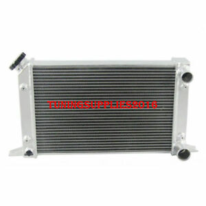 Scirocco style Dual Pass 2 Row 56mm Aluminum Radiator 80104n 12 H Drag Racing