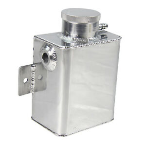 Universal Aluminum Coolant Overflow Bottle Tank Fabricated Billet Cap