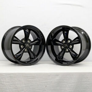17 Full Gloss Black 94 04 Mustang Bullitt Replica Wheels 17x9 17x10 5 5x114 3