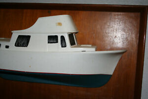 1 2 Model Trawler Yacht 31 Inch X 19 Inch Fibreglass Framed Antique Over 30