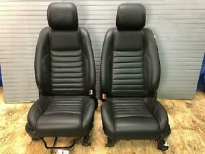 2013 2014 13 14 Ford Mustang Front Seats Seat Black Leather Power Driver