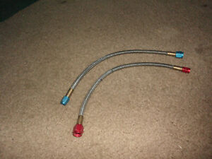 Nitrous Oxide Nos Super Pro Shot Red Blue Braided Hoses From Upgrade Kit