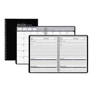 House Of Doolittle Recycled Monthly Meeting Planner 8 1 2 X 11 Black Cover