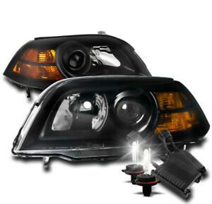 For 04 06 Acura Mdx Projector Replacement Headlight Lamp Black W 50w 8k Hid Kit